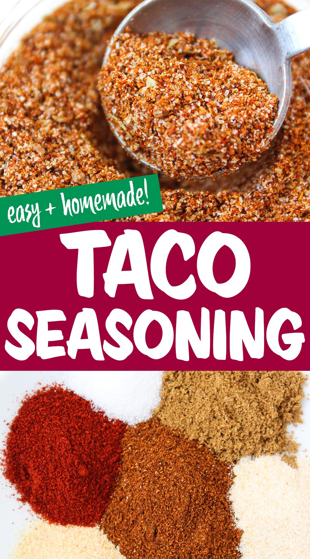 taco seasoning photo collage