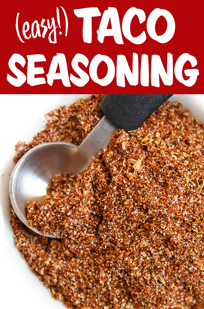 Easy taco seasoning in bowl