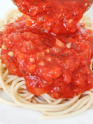 Oil free marinara sauce