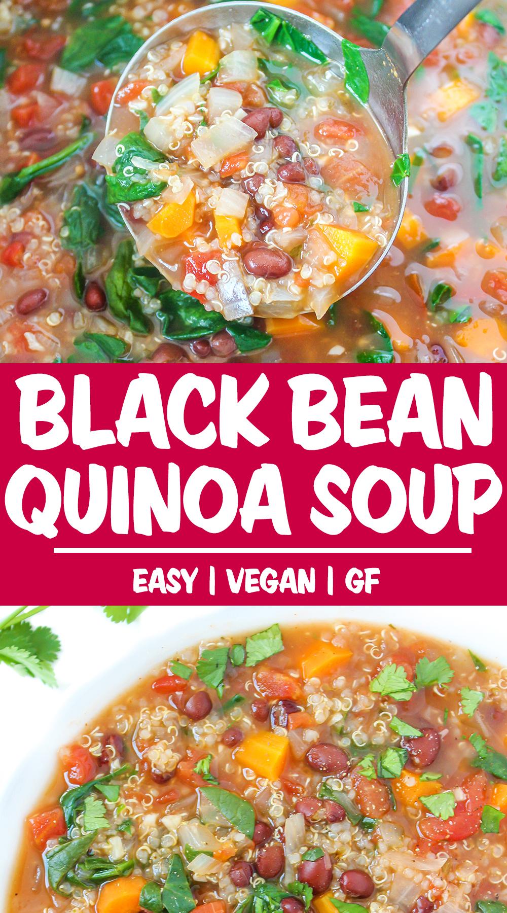 quinoa bean soup photo collage