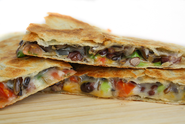 Loaded Veggie Black Bean Quesadilla The Garden Grazer