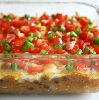 Glass dish with vegan bean dip