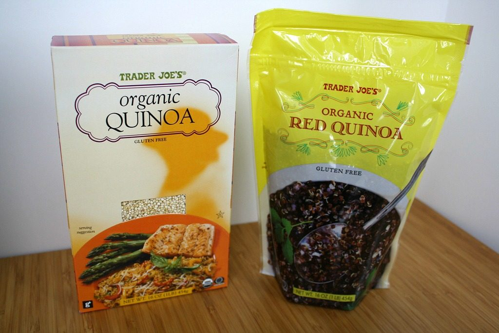 Packages of quinoa from Trader Joe's store