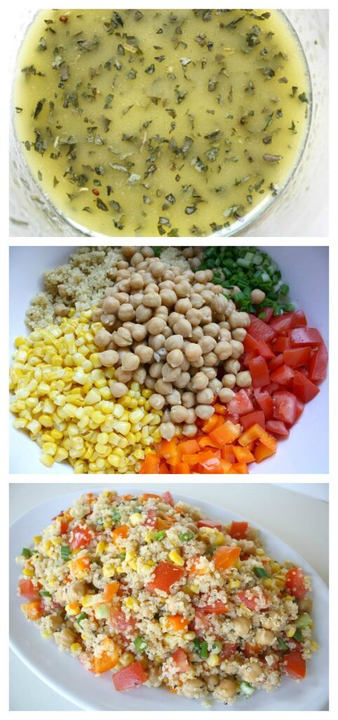 How to make quinoa vegetable salad with lemon-basil dressing