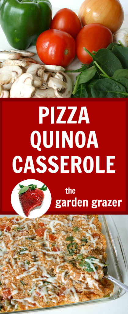 Pizza quinoa casserole photo collage
