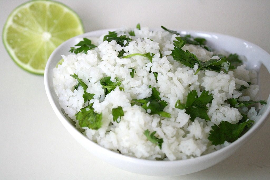 Bowl of cilantro-lime rice