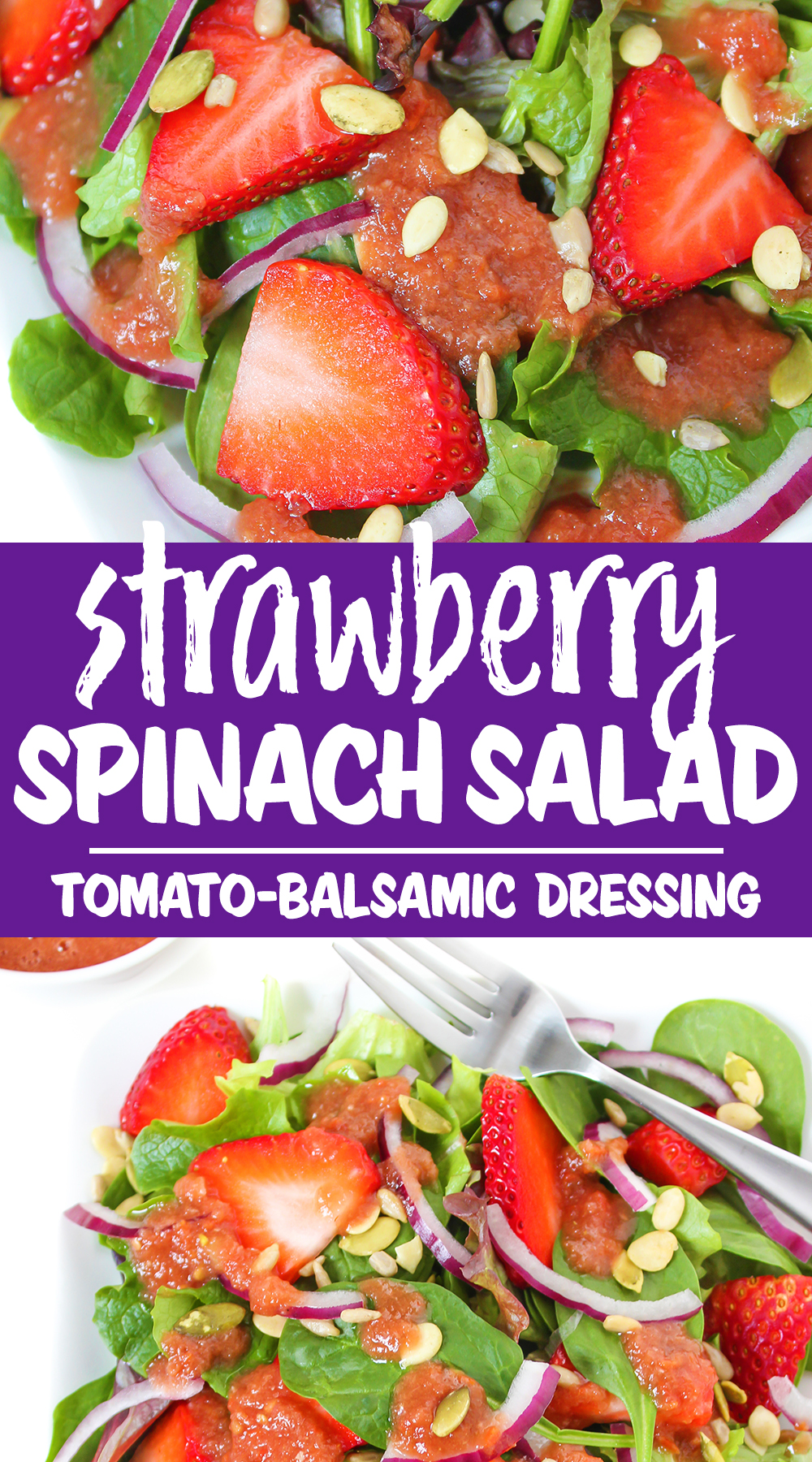 strawberry spinach salad photo collage