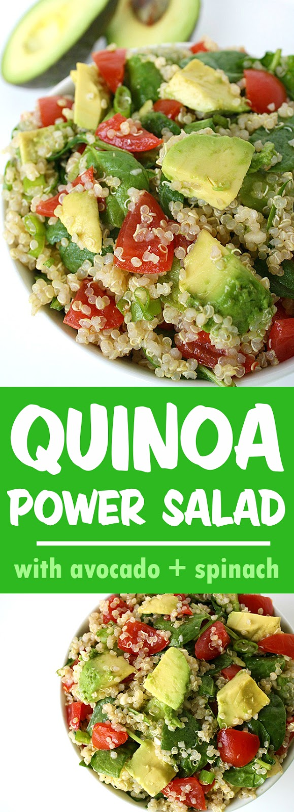 Quinoa Power Salad collage