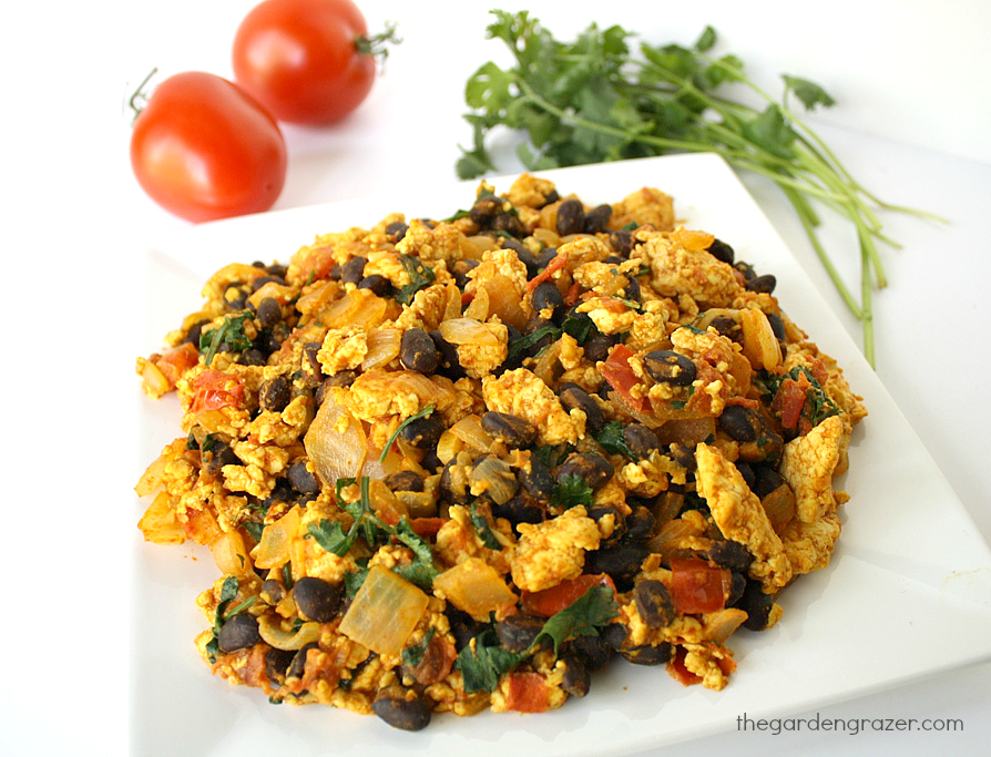 Southwest Tofu Scramble Vegan The Garden Grazer