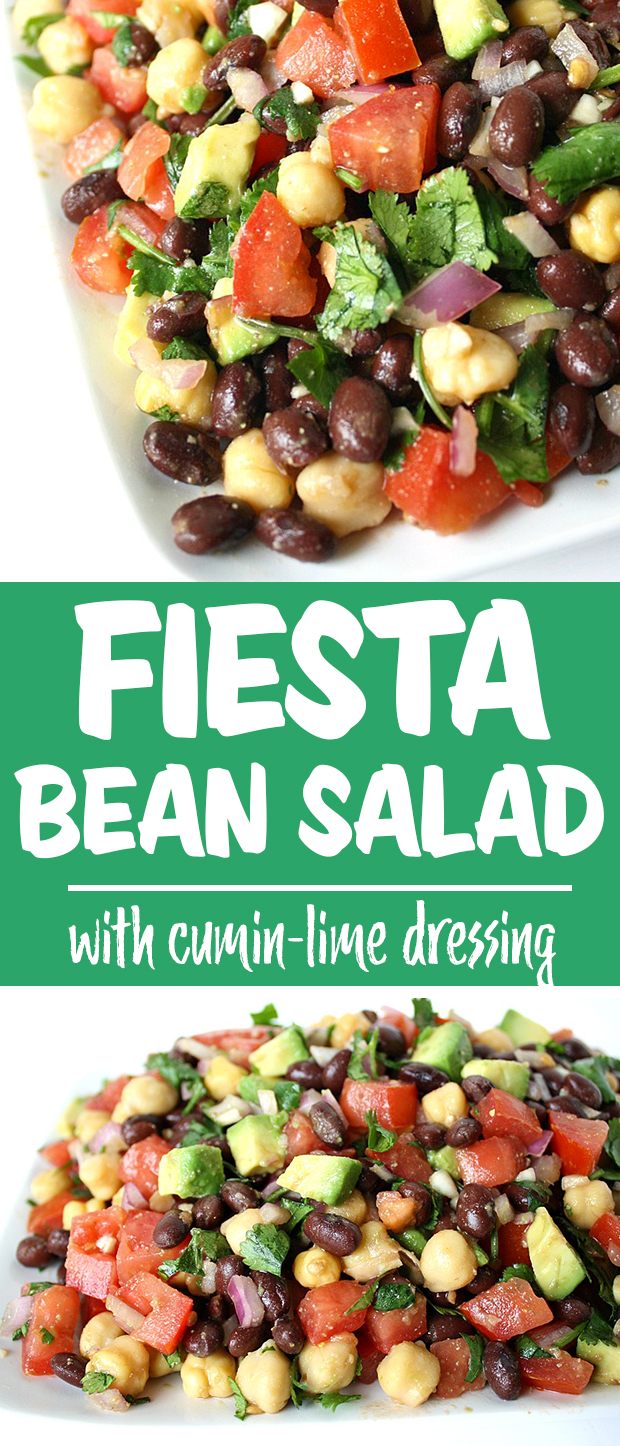 Black Bean and chickpea salad with cumin-lime dressing