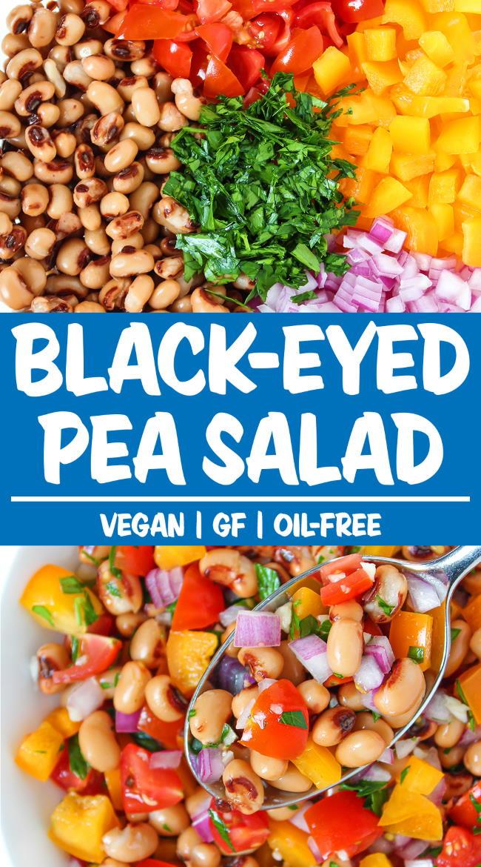 black eyed pea salad photo collage