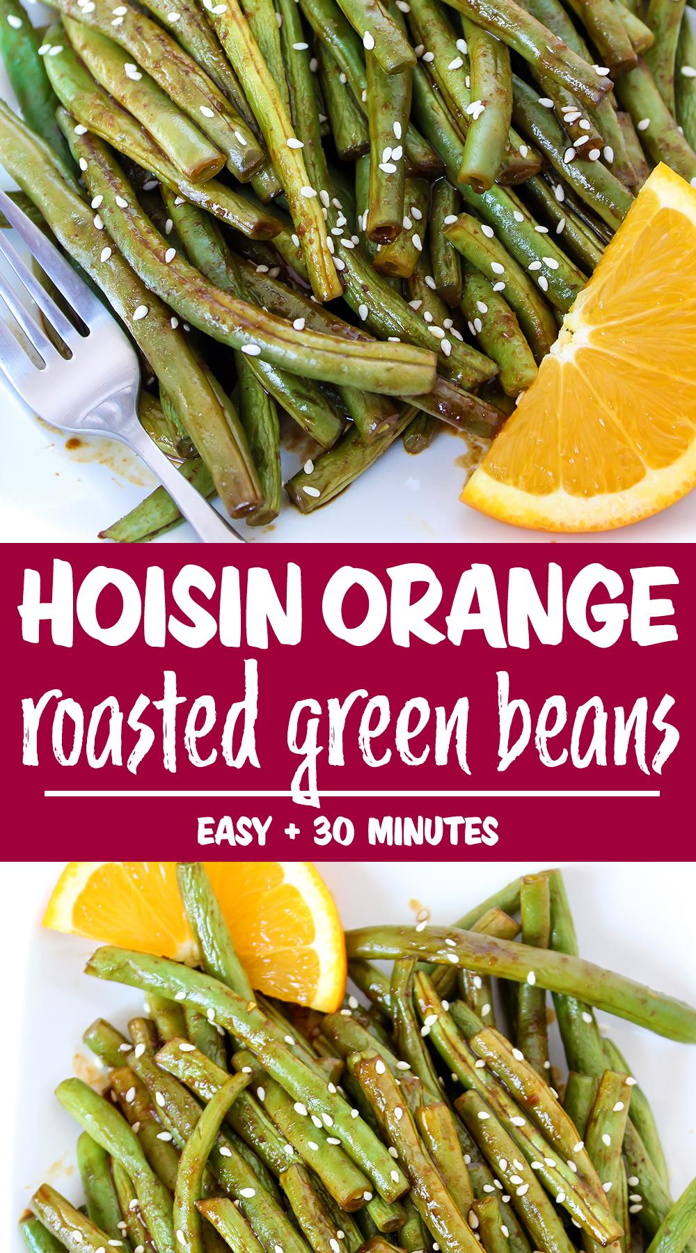hoisin roasted green beans photo collage