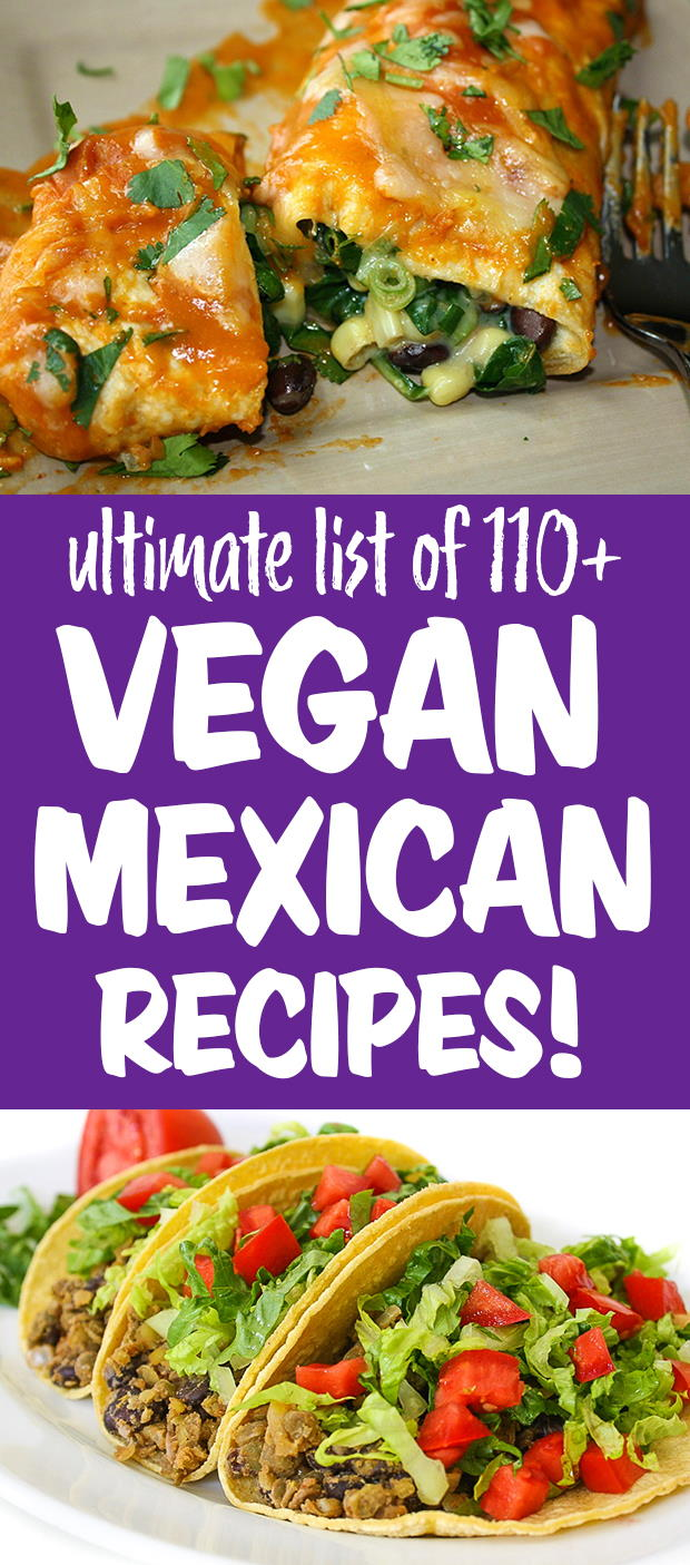 Vegan Mexican recipes photo collage