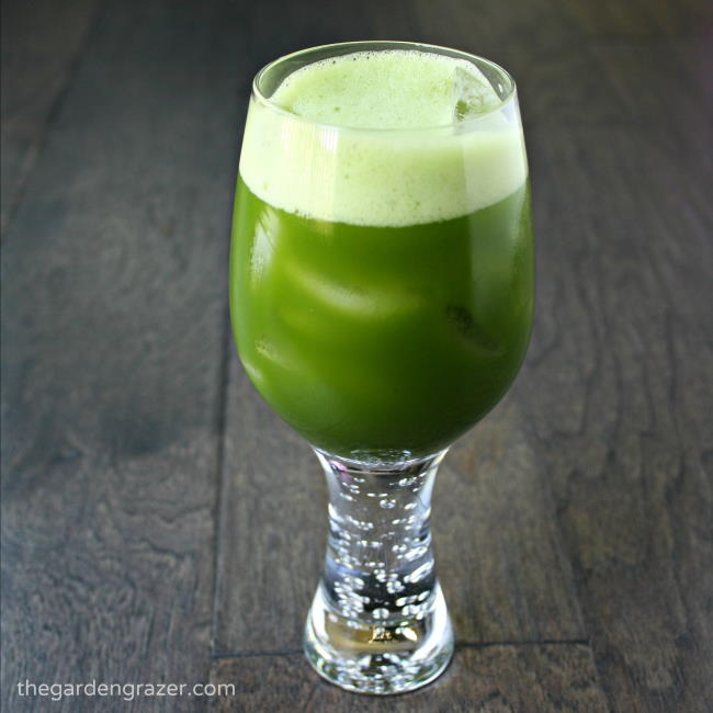 Glass of iced matcha green tea