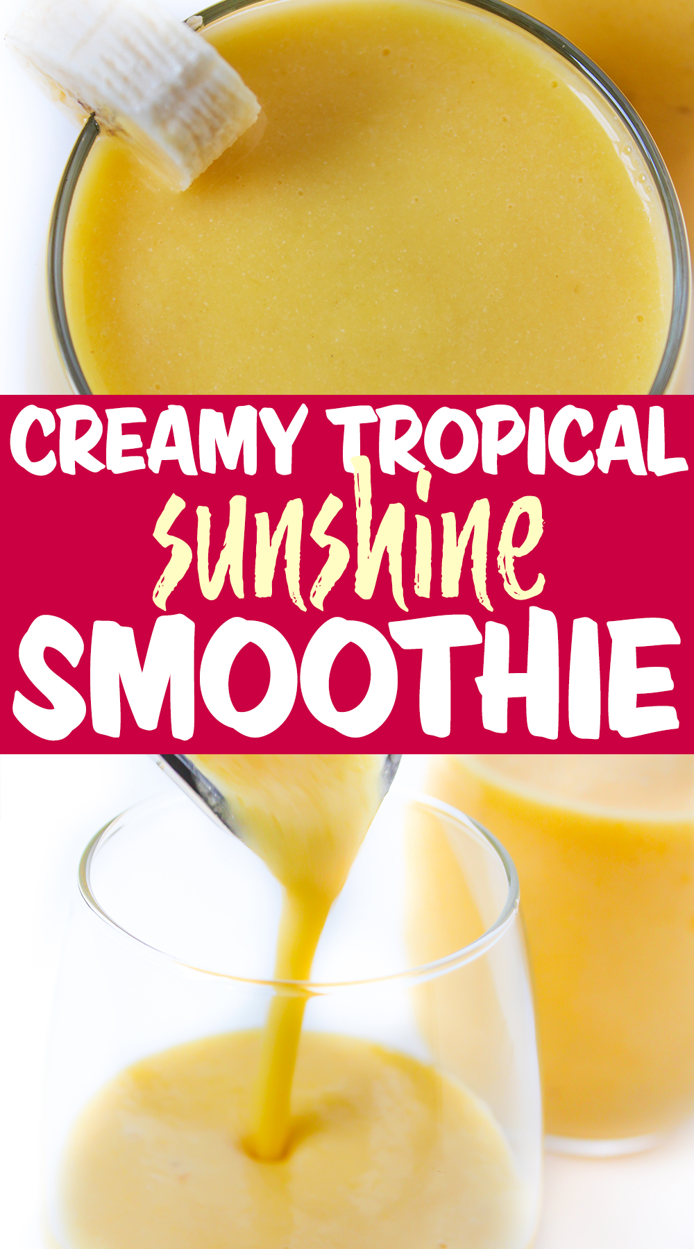 tropical smoothie photo collage
