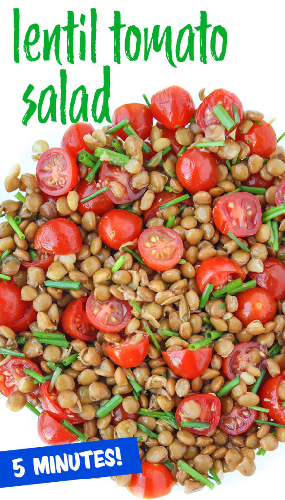 lentil tomato salad photo collage