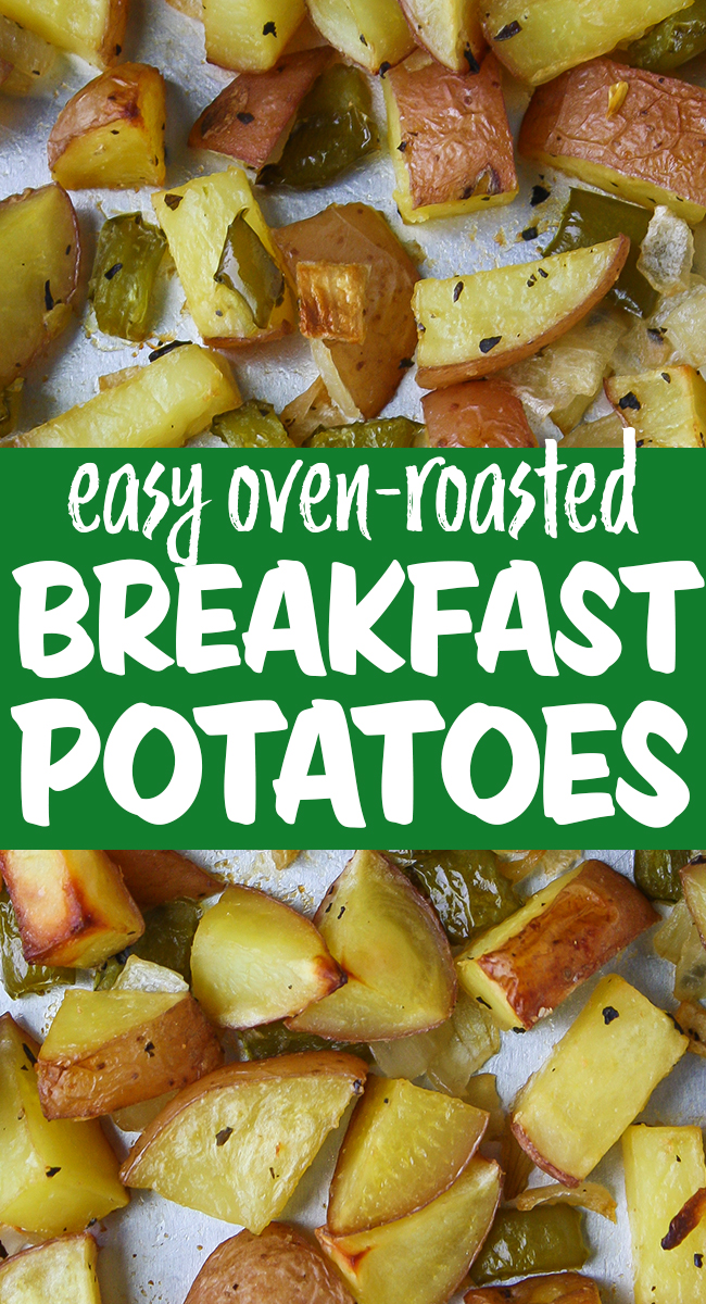 Vegan oven roasted breakfast potatoes on a pan