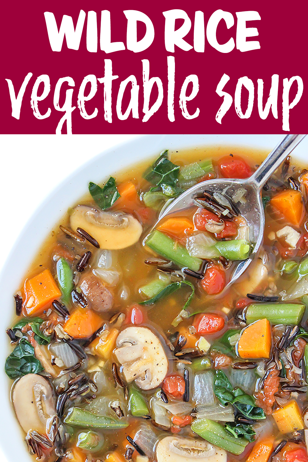 Wild rice vegetable soup photo collage