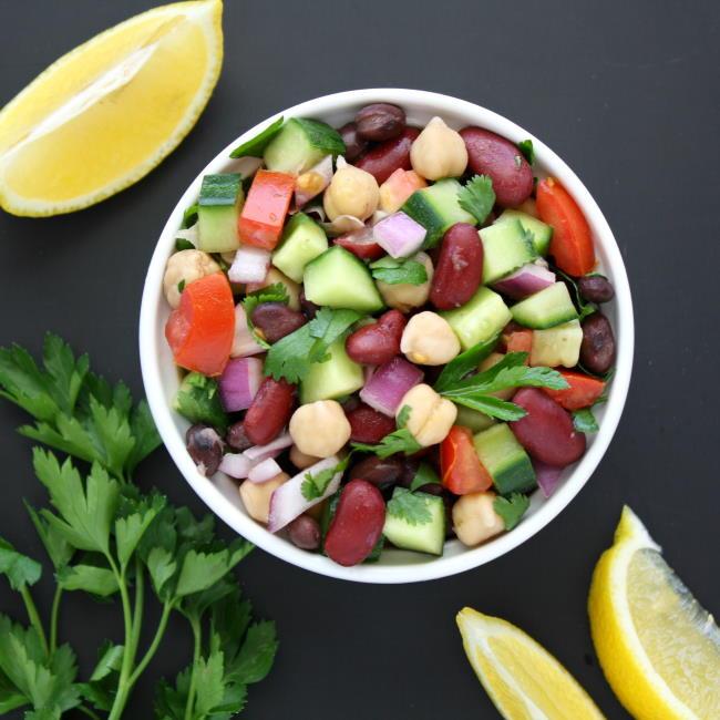 Three Bean Salad Recipe With Lemon Juice