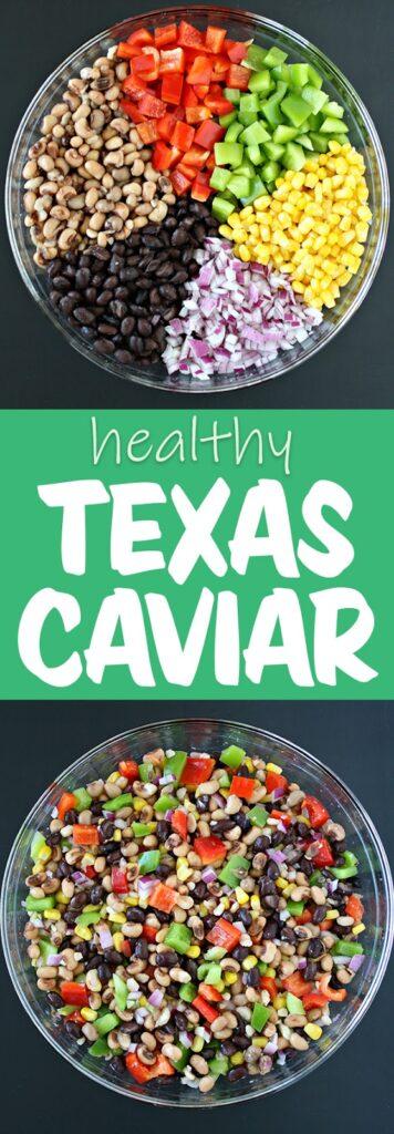 texas caviar photo collage