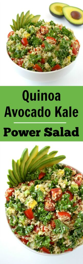 Avocado Quinoa Kale Salad photo collage