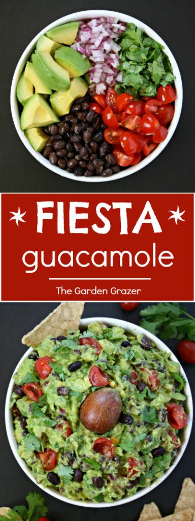 Fiesta guacamole photo collage