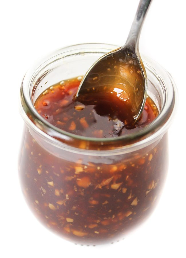 Easy homemade vegan teriyaki sauce in a jar