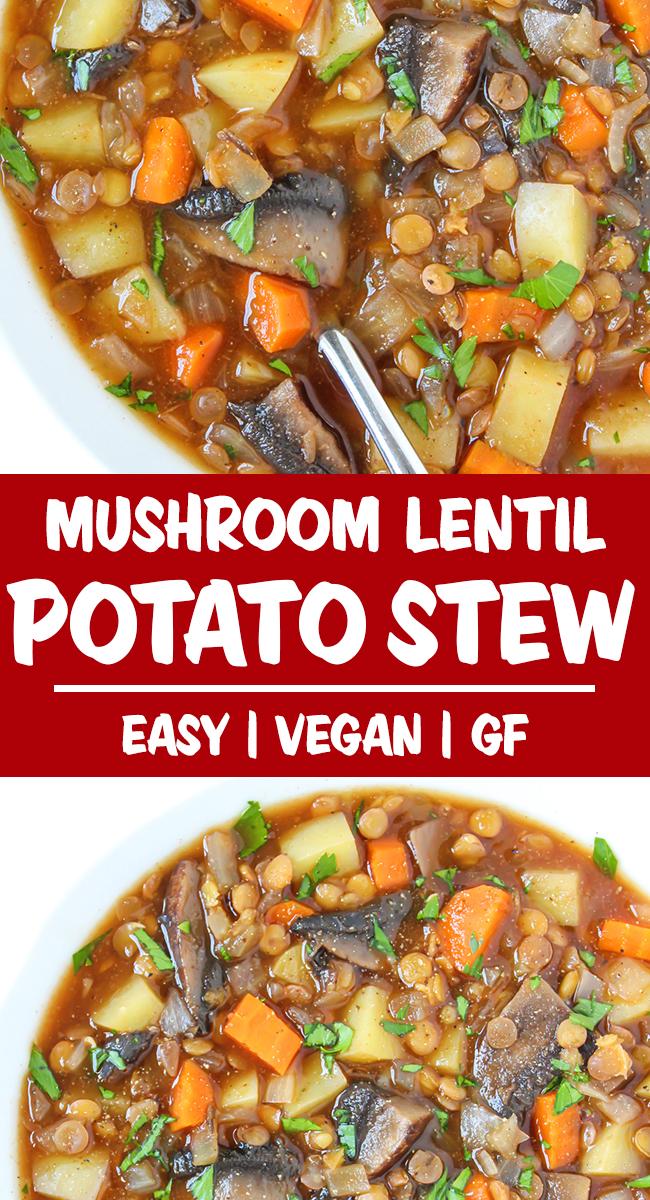 vegan potato stew photo collage