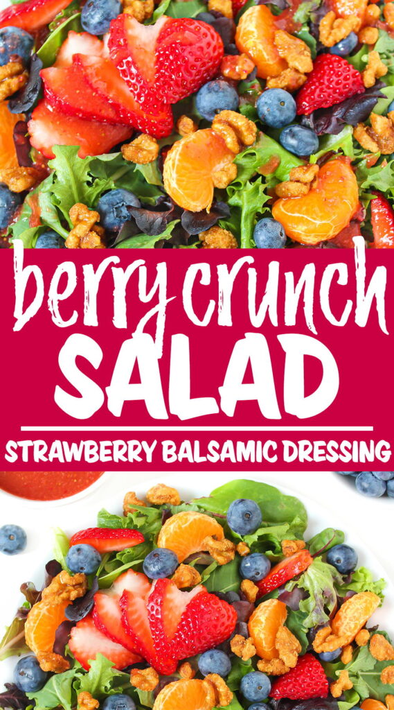 Berry crunch salad photo collage